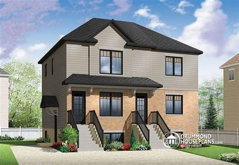 multi family house plans triplex if two is good three is great economical 2 bedroom