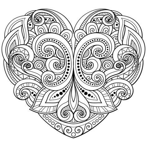 paisley heart coloring page paisley heart coloring pages 5995 baidata