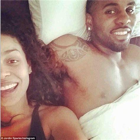 bed selfie jordin sparks shares sweet in bed selfie with jason derulo