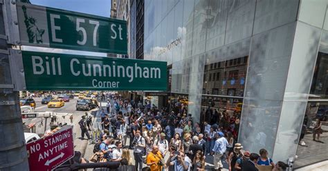 Bill Cunningham Available by Nyc Honors Bill Cunningham With Corner At 57th St And