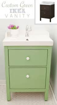 Ikea Bathroom Vanities by Green Ikea Custom Bathroom Vanity The Golden Sycamore