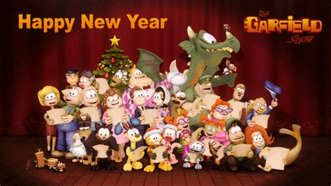happy new year show garfield show resolutions the garfield show the