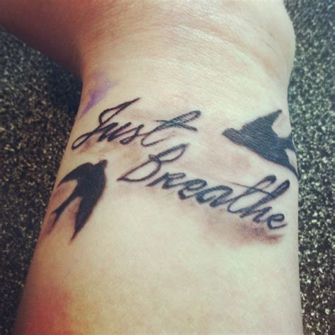 breathe tattoo on wrist my wrist quot just breathe quot cool tattoos