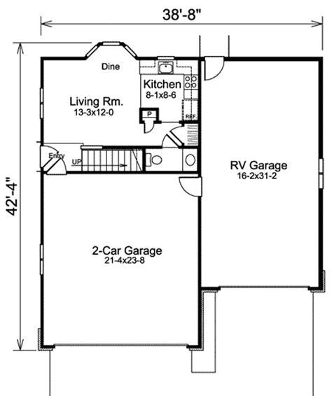 rv storage plans apartment garage plus rv storage 57157ha 2nd floor