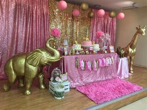 Pink Safari Baby Shower Ideas by Pink Gold Safari Baby Shower Ideas Baby Shower