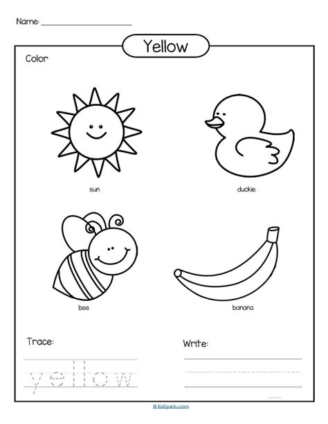 yellow coloring pages for toddlers colors theme activities and printables for preschool and