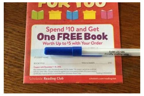 scholastic book club coupon november 2018