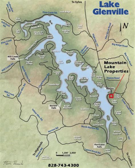 lakes in carolina map about mountain lake properties carolina