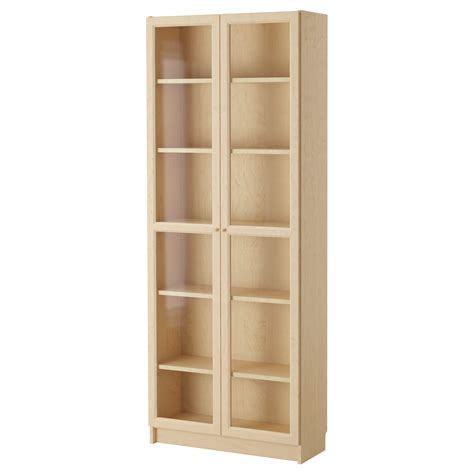 Billy Oxberg Bookcase Birch Veneer 80x202x30 Cm Ikea Birch Bookshelves