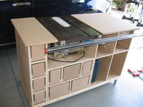 how to build a table saw workstation table saw mobile workstation 4 construction is moving