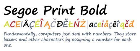 print bold font segoe print bold desktop font fonts com