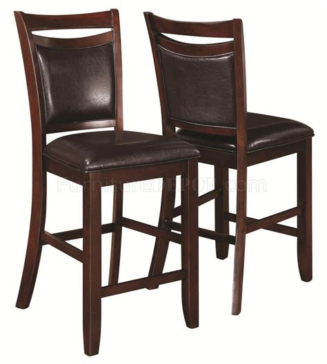 dupree counter height bench 105477 dupree counter height dining set 5pc 105478 by coaster w