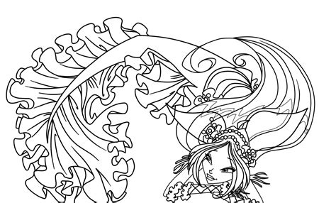 coloring pages mermaids fairies winx mermaid coloring pages to print and download for free