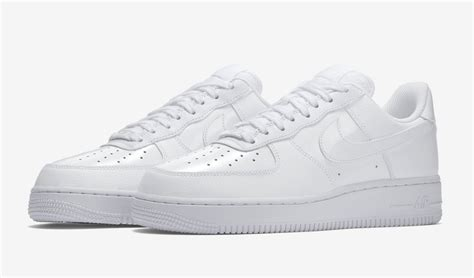 Nike Air 1 Low Leather All White nike air 1 low patent leather pack is on its way