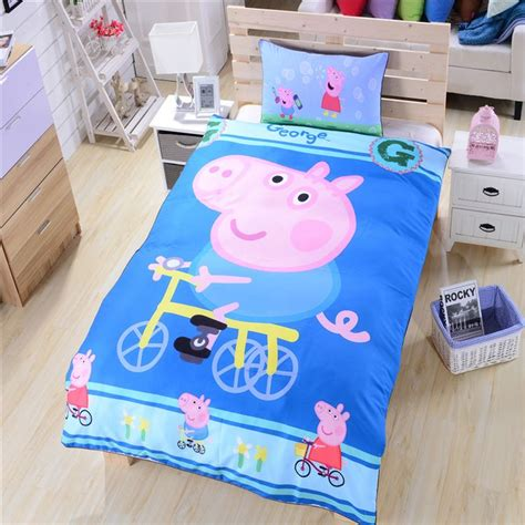 peppa pig bedding sets happy peppa pig bedding bicycle bed sheets gift bedding