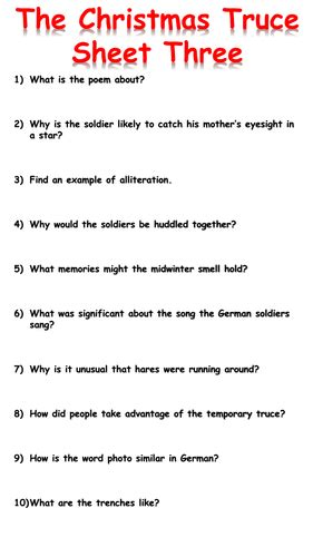 the christmas truceeducation resources 0957124570 the christmas truce reading comprehension by krisgreg30 teaching resources tes