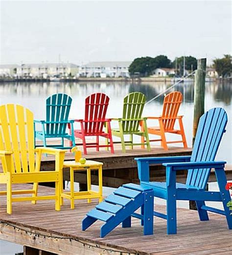 Colorful Adirondack Chairs by Colorful Polywood Adirondack Chair Home Design And Decor