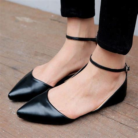 Pointy Sandals 2016 womens pointy toe roma ankle ballet flat