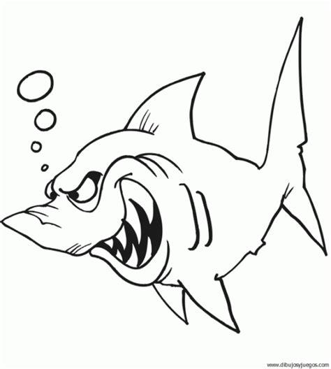 imagenes para colorear tiburon dibujos de un tiburon para colorear imagui