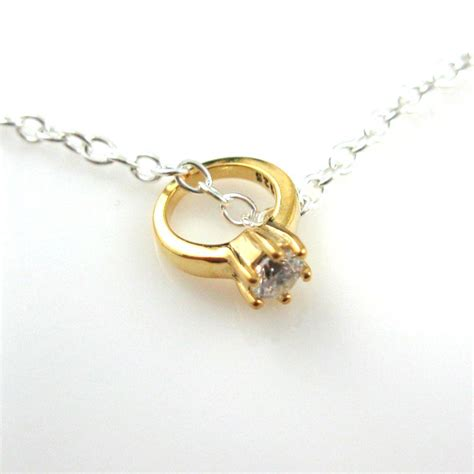 gold plated sterling silver charms promise ring
