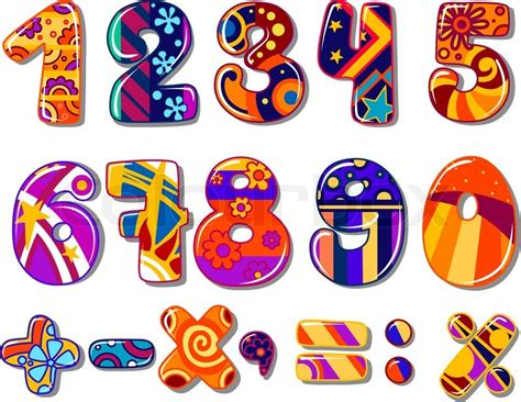 Abc Home Decor cartoon colourful school numbers for mathematics or