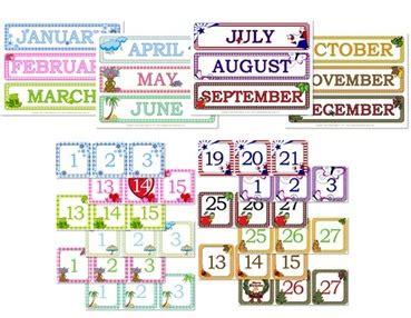 Preschool Calendar Pieces
