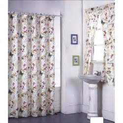 Bath Sets With Shower Curtains Garden Flowers Shower Curtain Set And Window Set Free