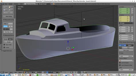 Blender Boat Model