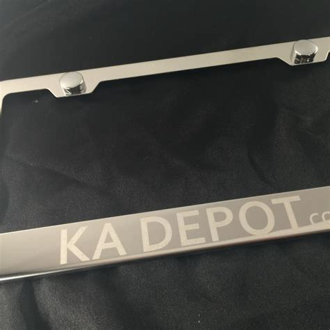Corbel Plate by Custom Laser Quot Corbel Quot Engraved Chrome License Plate Frame