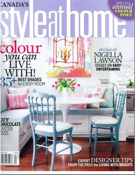 at home magazine we talk colour with style at home magazine april 2013