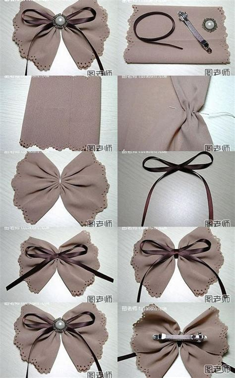diy hair bows how to make your own pretty bow hairpin step by step diy