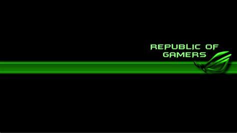 asus wallpaper green republic of gamer asus rog computer wallpapers desktop