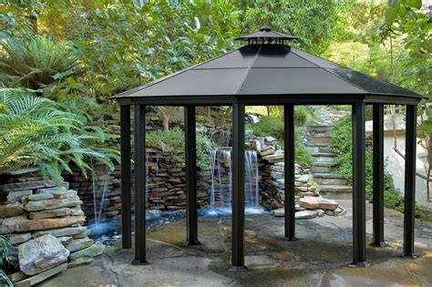 gazebo steel everything you need to about gazebos the garden