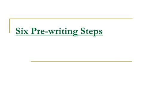prewriting outline template six pre writing steps