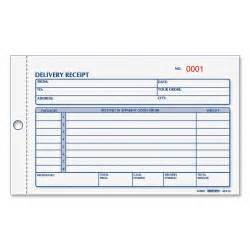 shipping ticket template rediform 6l615 delivery receipt book 50 sheet s spiral