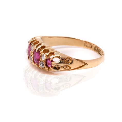 antique ruby and ring made in the late 1800 s