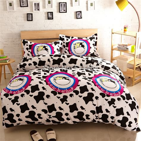 cow print bedding cow print bedding 200 230cm queen size cow bed sheets