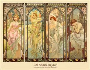 Wall Art Ideas For Dining Room Alfons Mucha Les Heures Du Jour Poster Posterlounge