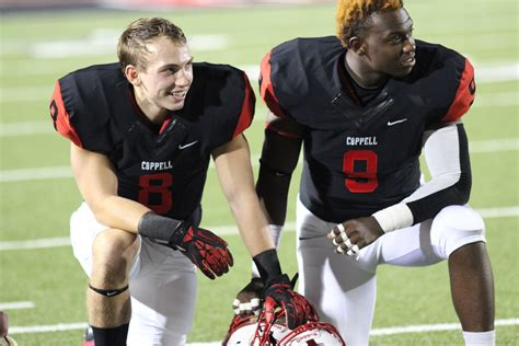 cowboy josh and amanda 2015 coppell student media senior night rout of haltom