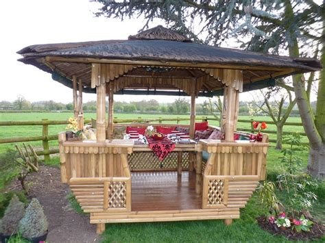 Bamboo Gazebo by Square Bamboo Gazebos By Protech Direct