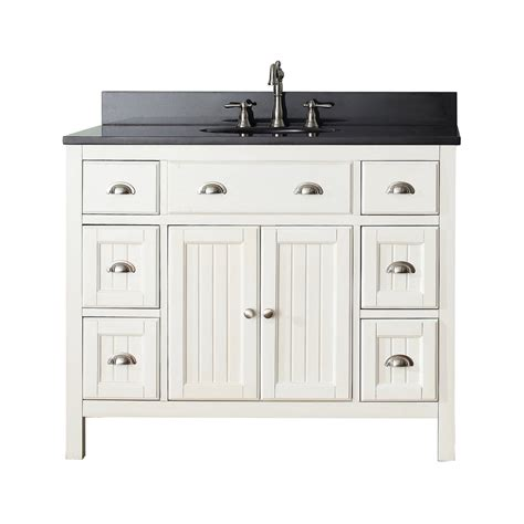 Lowes Bathroom Vanities On Sale Avanity Hamilton Vs42 Fw Hamilton 42 In Bathroom Vanity Combo Lowe S Canada