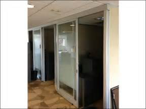 used floor to ceiling office cubicles w sliding