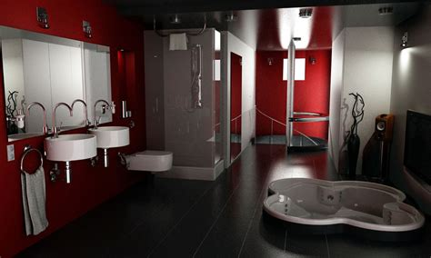Red And Black Bathroom Ideas by Elegant Red And Black Bathroom Interior Design Ideas