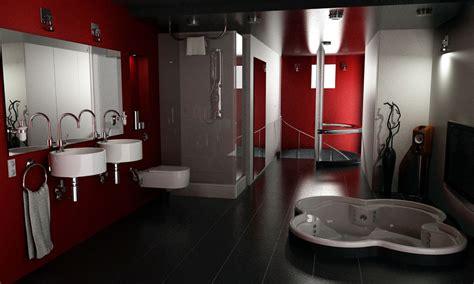 Elegant red and black bathroom interior design ideas