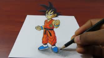 Draw 3d Online how to draw 3d goku easy dragon ball youtube