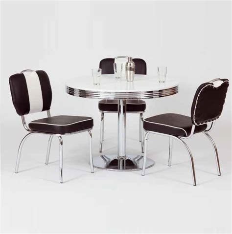 Chrome Bistro Chairs King Retro Bistro Table In White And Chrome Top Buy Bar Tables Furnitureinfashion Uk