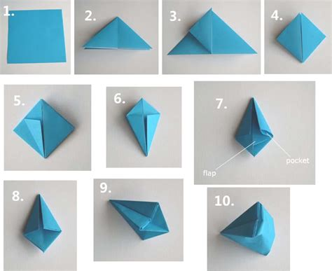 Folding Origami - how to papercraftsquare free papercraft page 3