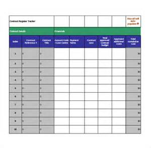Contract Tracking Spreadsheet Template contract tracking template 10 free word excel pdf