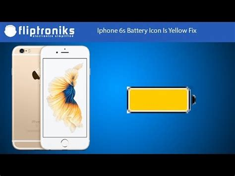 iphone yellow battery iphone 6s battery icon is yellow fix fliptroniks