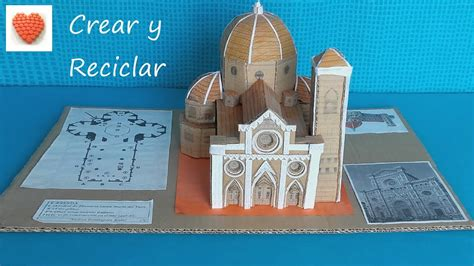 cmo construir una catedral 8446038471 maqueta de la catedral de florencia con materiales reciclados diy youtube